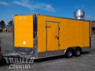 2017 8.  5x16 8.  5 X 16 V - Nosed Enclosed Concession Food Vending Bbq Trailer photo