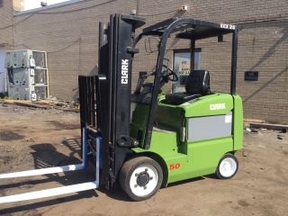 2009 Clark Electric Forklift With Sideshift Triple Mast And Fork Positioner ' S photo