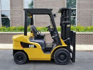 2006 Cat Caterpillar P5000 5000lb Pneumatic Forklift Diesel Lift Truck Hi Lo photo