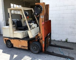 Nissan 5000 Lbs.  Lpg 2 Speed Forklift Lpg Propane Solid Tires photo