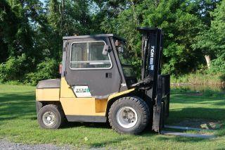 Tcm Fd45zt 10,  000 Pneumatic Forklift,  Diesel Engine,  189