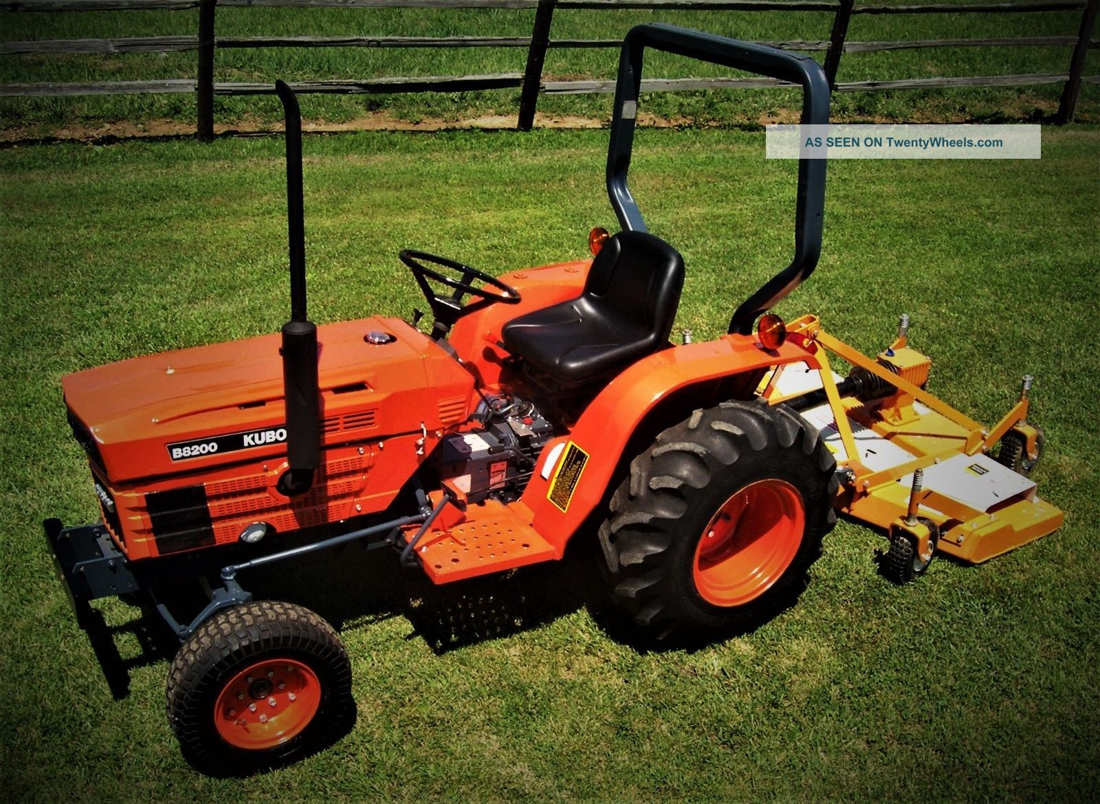 Kubota Tractor And Woods Finish Mower - Tractors photo