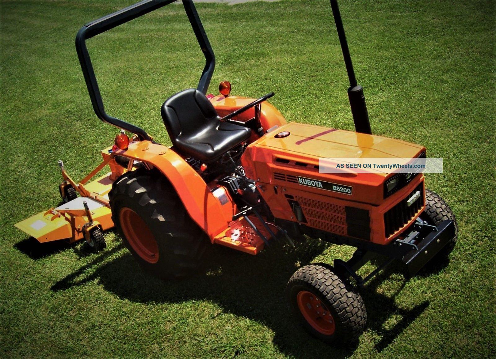 Woods Finish Mower : Kubota tractor and woods finish mower
