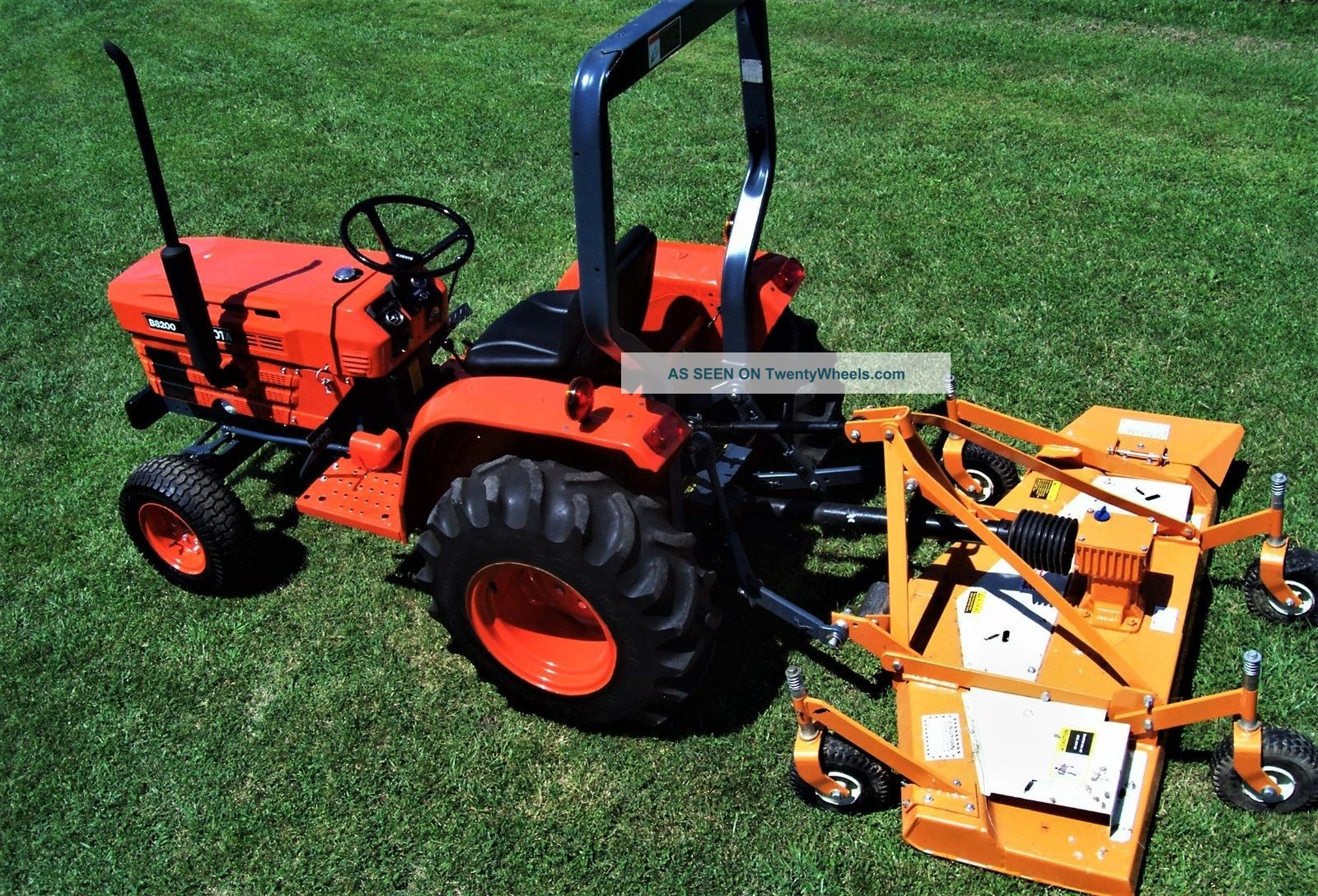 Woods Tractor Parts : Kubota tractor and woods finish mower