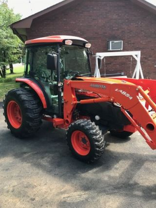 2012 Kubota L5740 Hst Cab+ Loader+ 4x4 With 290 Hours.  Hydrostat Trans - 57hp photo