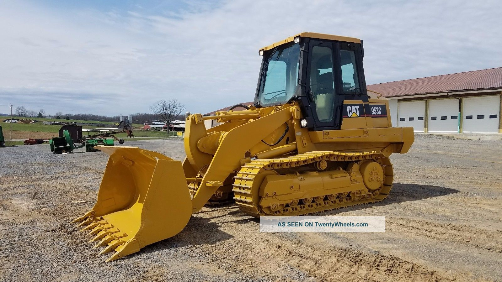 1999 Caterpillar 953c Track Loader Diesel Engine Hydraulic Machinery Cab Ac Heat Crawler Dozers & Loaders photo