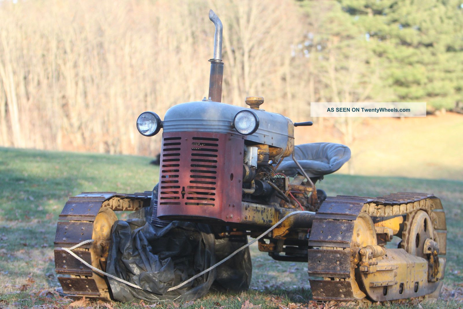 Barn Find Oliver Oc - 3 Crawler,  Pto Belt Pulley On Back, , Antique & Vintage Farm Equip photo