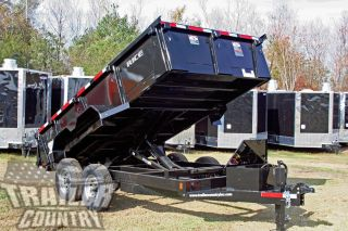 2017 7x14 7 X 14 14k Gvwr Hydraulic Dump Equipment Hauler Trailer 24