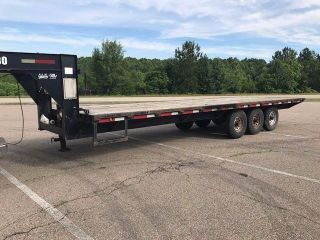 25 ' Gooseneck Flatbed Hotshot Trailer Triple Axles Electric Over Hydraulic Brake photo
