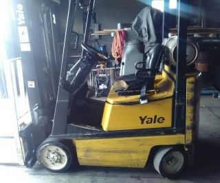 1998 Yale Forklift With Mazda Fe 2.  0 Sohc photo