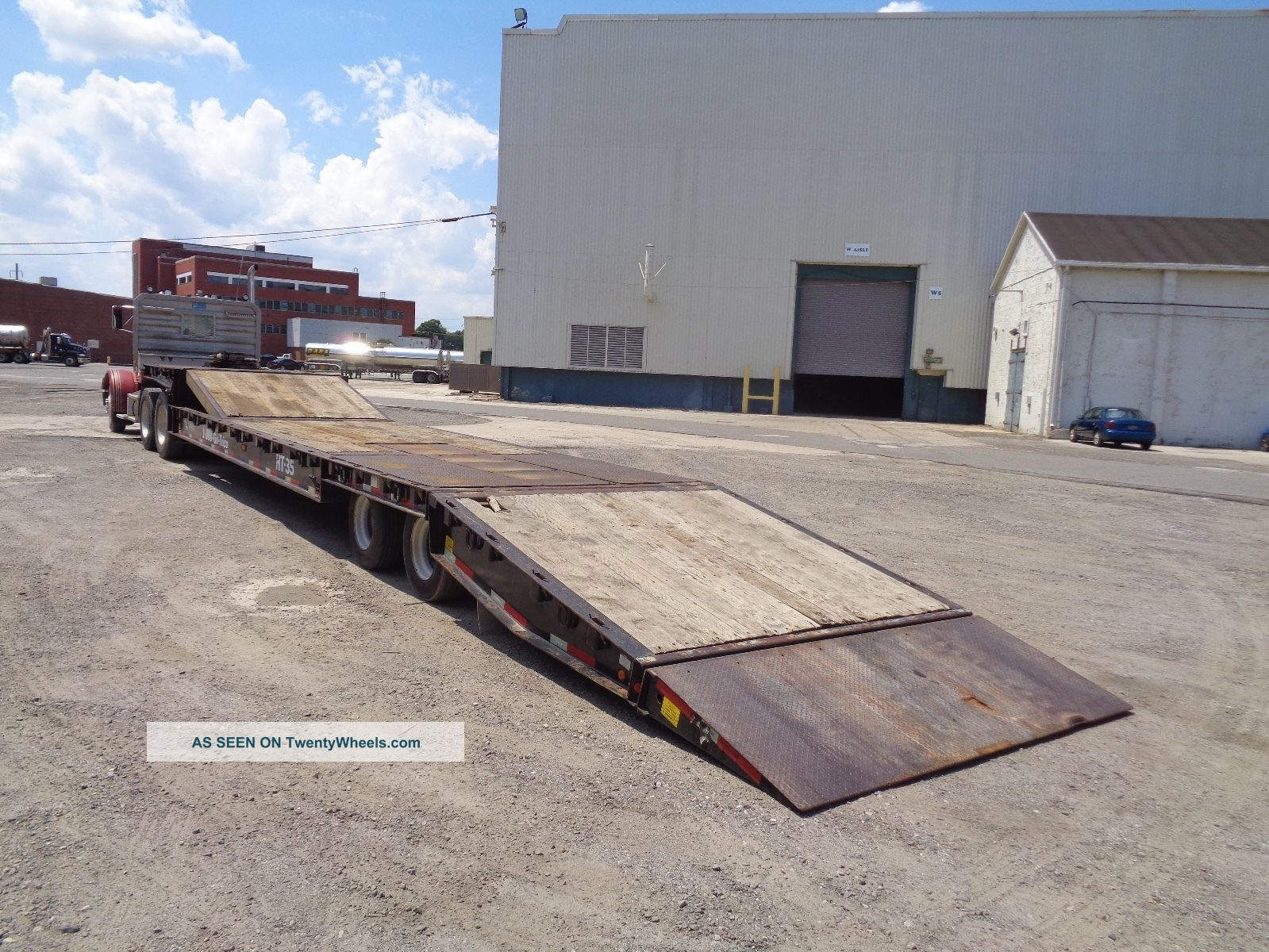 2009 Talbert 35ht 35 Ton Hydraulic Tilting Rollback Equipment Step Deck Trailer Trailers photo