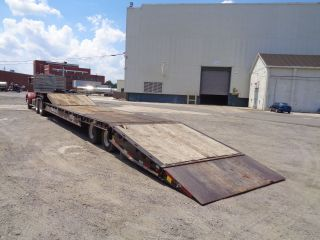 2009 Talbert 35ht 35 Ton Hydraulic Tilting Rollback Equipment Step Deck Trailer photo