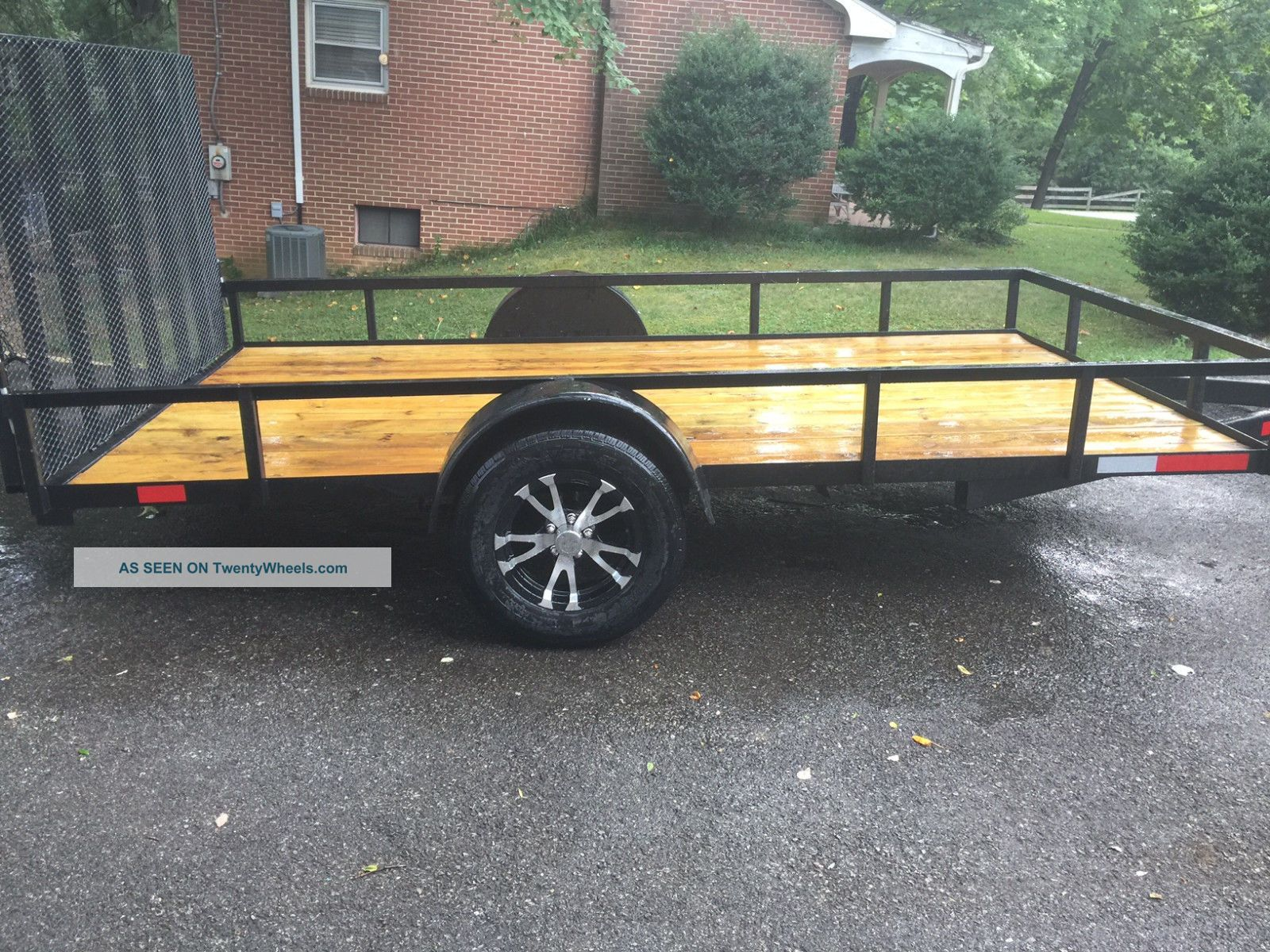 6x12 Utility Trailer Floor Jack And Fresh Paint Tires And Rims Trailers photo