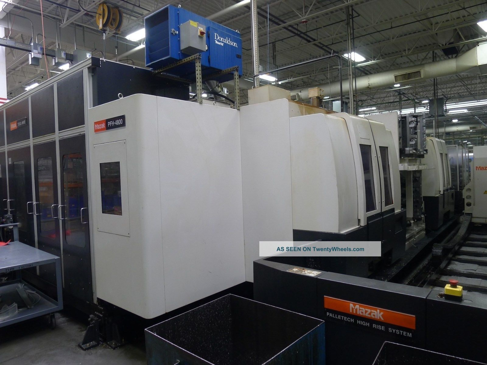 Mazak Pfh - 4800 Pallet - Tech System (2) Machines 32 Pallets,  Renishaw Probing Milling Machines photo