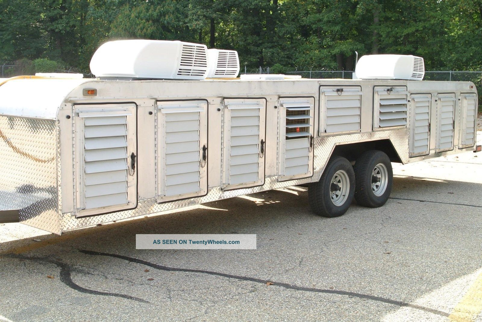 Canine / Dog Transport Hauler 14 Compartment Trailer Tuffy Line Trailers photo