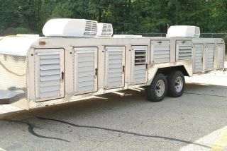 Canine / Dog Transport Hauler 14 Compartment Trailer Tuffy Line photo
