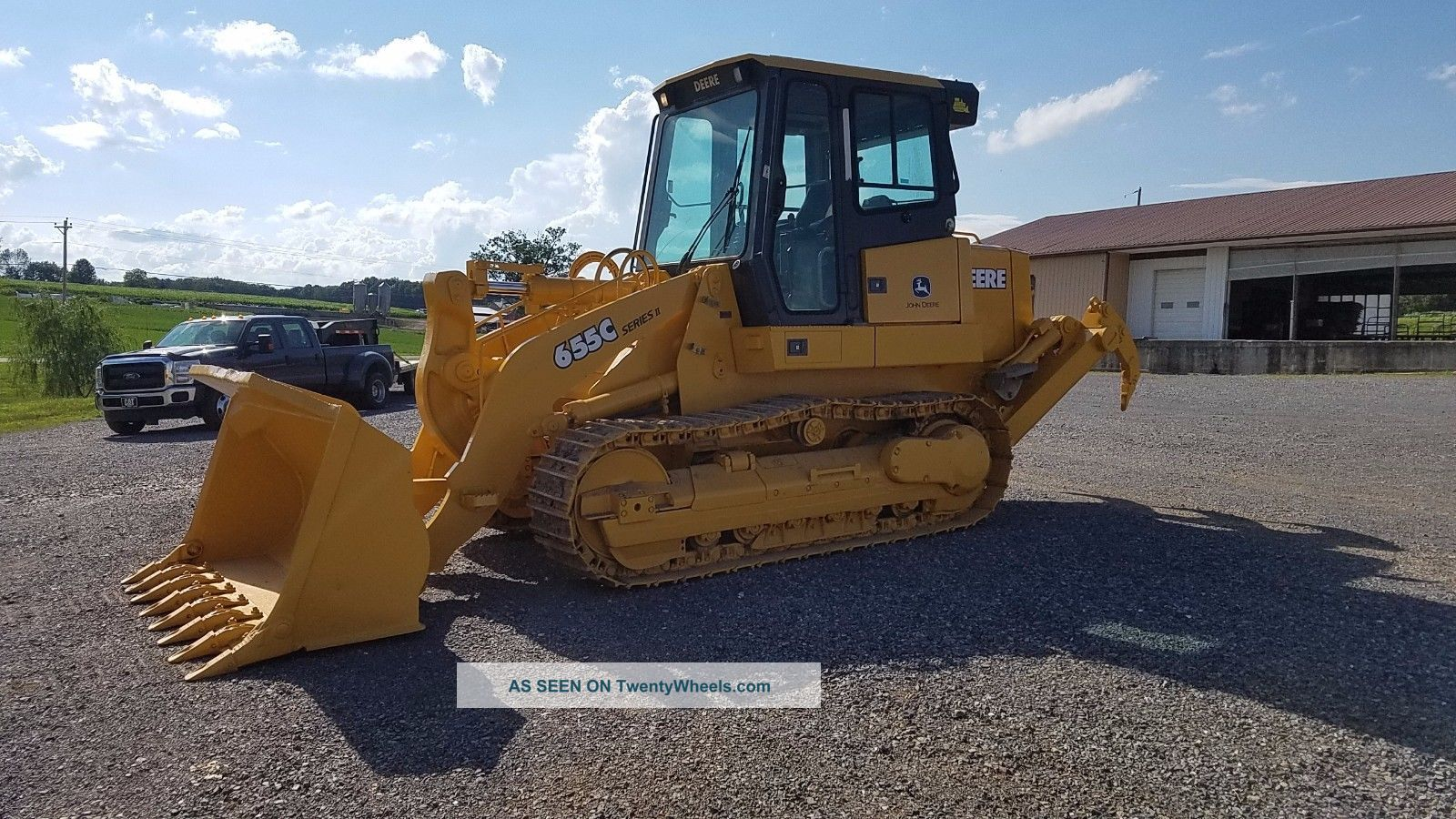 2003 John Deere 655c Series 2 Track Loader Diesel Engine Machine 3 Shank Ripper Crawler Dozers & Loaders photo