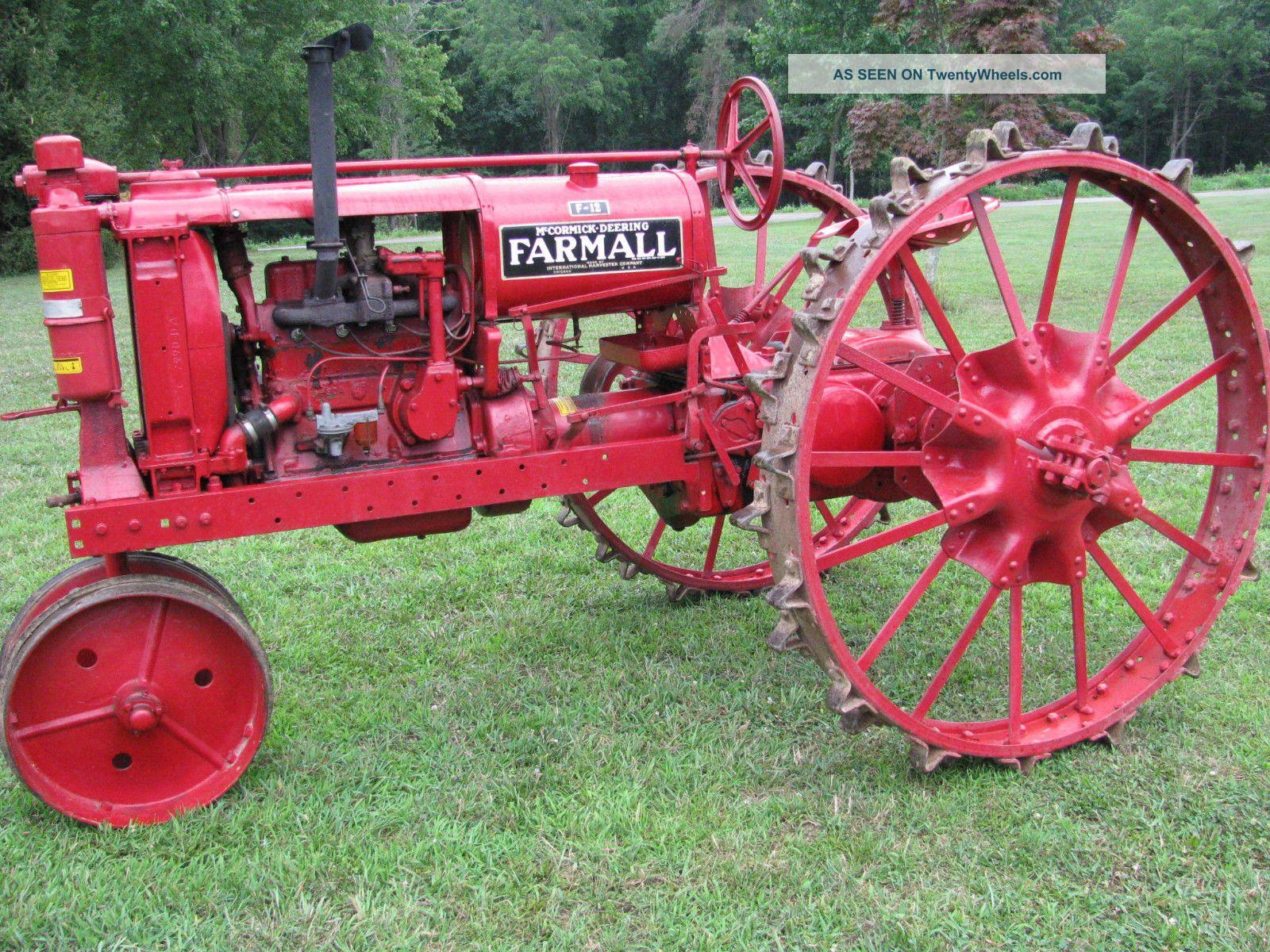 Farmall F 12 : Farmall f tractor