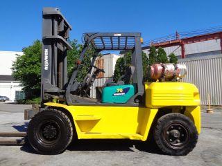 Komatsu Fg70 - 8 15,  000 Lbs Forklift Pneumatic Boom Truck - Propane photo