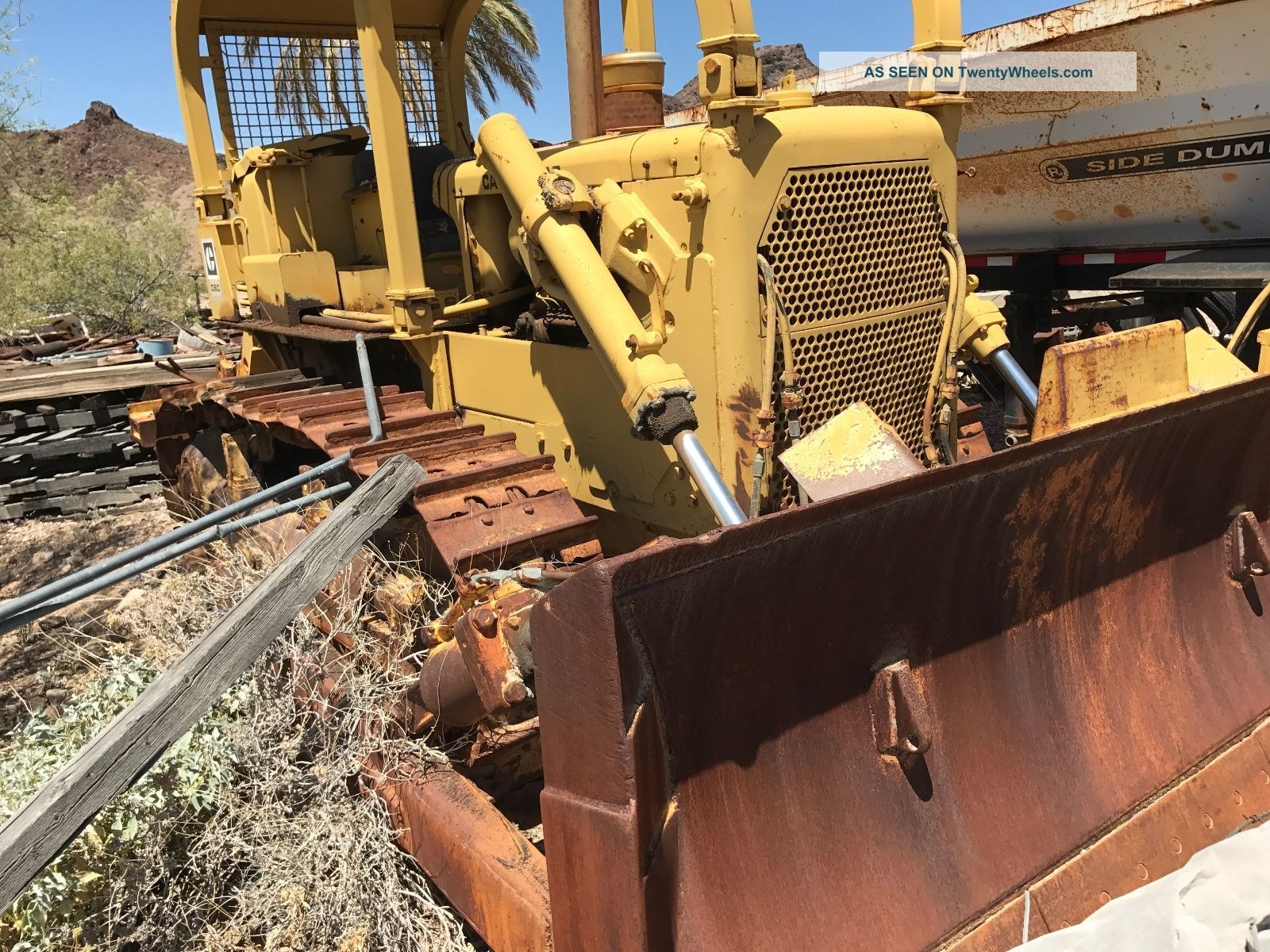 Caterpillar D6c Dozer Rear Ripper Straight Dozer With Slope Board Crawler Dozers & Loaders photo