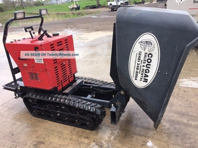 Allen Eng Concrete Track Power Buggy At16 W/ 16cf Poly Bucket,  2500lb Paylpad Other Heavy Equipment photo