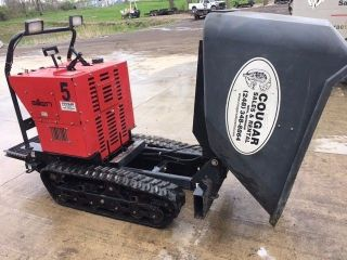 Allen Eng Concrete Track Power Buggy At16 W/ 16cf Poly Bucket,  2500lb Paylpad photo
