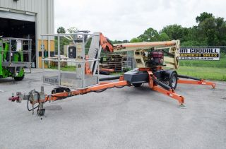 Jlg T500j 56 ' Tow Pro Towable Boom Lift,  W/hydrauic Wheel Drive & Generator,  2011 photo