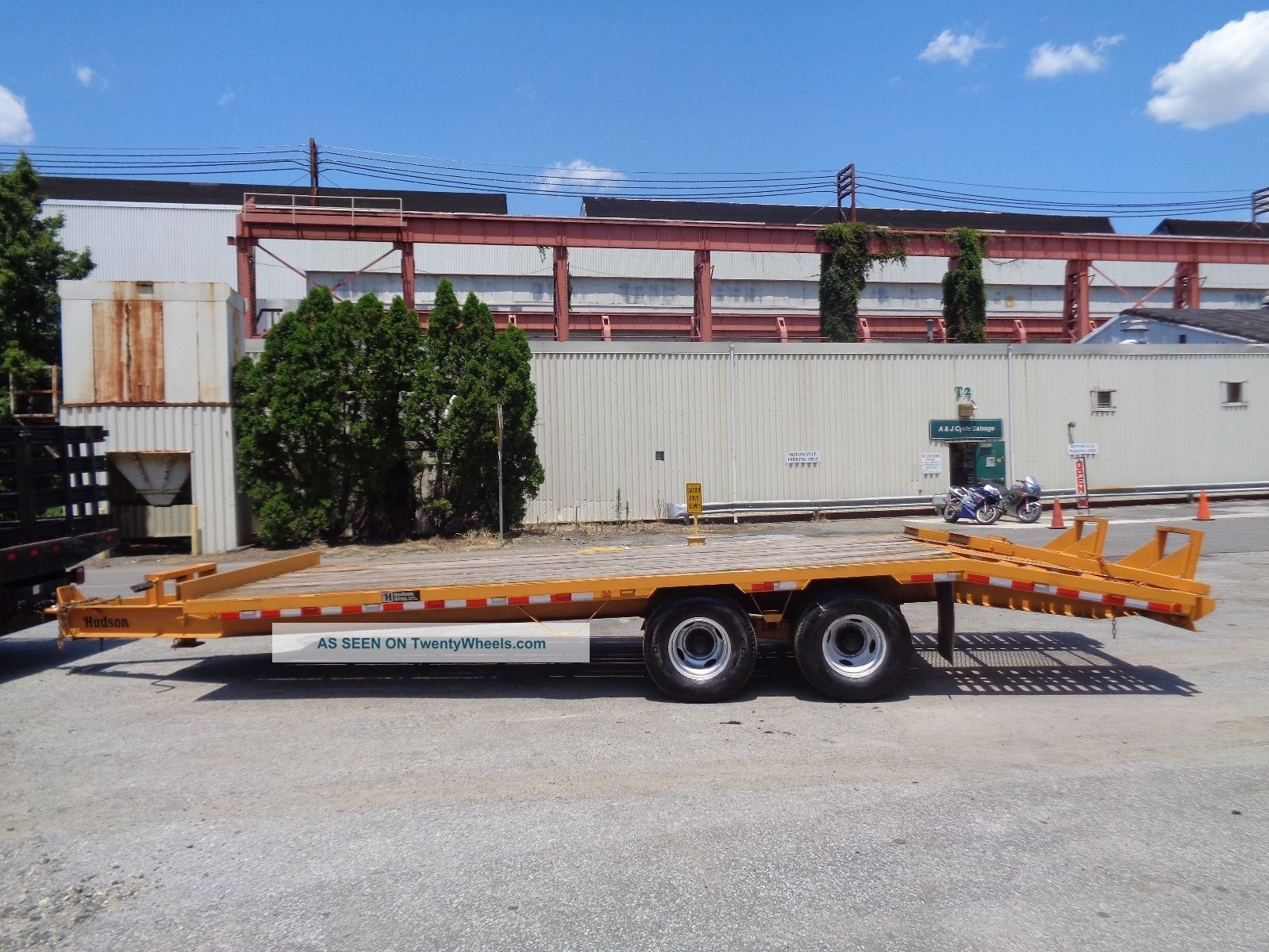 2006 Hudson Htd180 Tag Along 10 Ton Equipment Flat Bed Trailer - 25 Ft Long Trailers photo