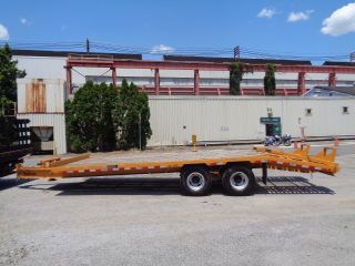 2006 Hudson Htd180 Tag Along 10 Ton Equipment Flat Bed Trailer - 25 Ft Long photo