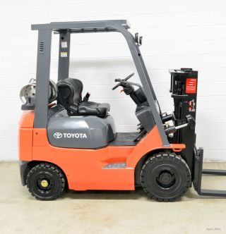 2006 Toyota 3000 Lb Lpg Pneumatic Forklift 3,  000 Lb 7fgu15 Air Tires photo