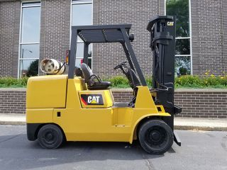 1999 Cat Caterpillar Gc55k 12000lb Cushion Forklift Lpg Lift Truck Hi Lo 92/132 photo