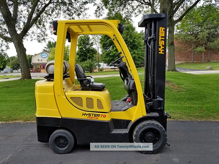 2012 Hyster S70ft 7000lb Cushion Forklift Lpg Lift Truck Hi Lo 87/187 Forklifts photo