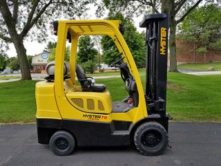 2012 Hyster S70ft 7000lb Cushion Forklift Lpg Lift Truck Hi Lo 87/187 photo