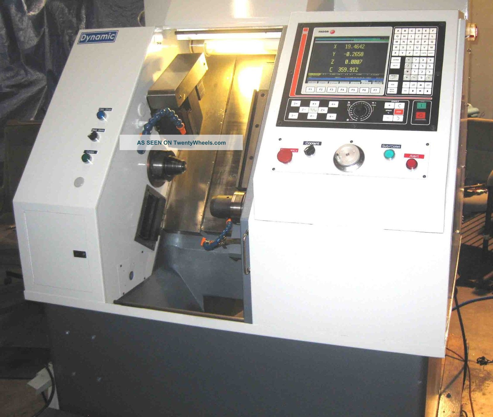 Gts - Fx Cnc With Subspindle - 5c 5c - Full C Axis Main Spindle - Indexing Sub Metalworking Lathes photo