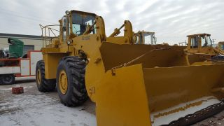 1980 Clark 125c Wheel Loader W/ 14 Ft Snow Pusher Video photo