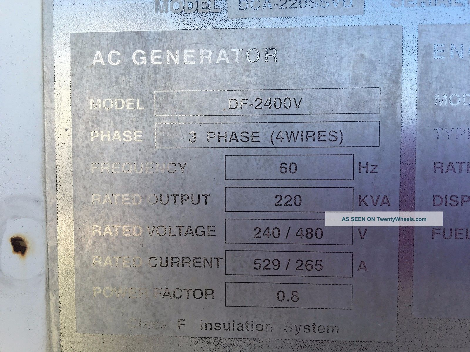 2005 Mq220 Generator With 6150 Hours In Other Heavy Equipment photo