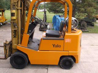 Yale Cushion Tire 4000 Lb.  Propane Forklift photo