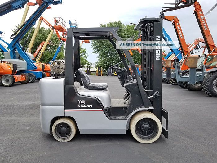 2008 Nissan Cf80 8000lb Non Marking Cushion Forklift Lpg Lift Truck Hi Lo 87/191 Forklifts photo