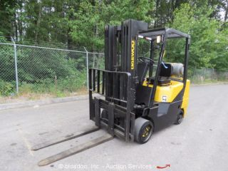 Daewoo Gc30s - 3 6k Industrial Lpg Warehouse Forklift Lift Truck 3 - Stage Mast photo
