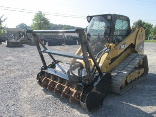 2011 Caterpillar 279c Tracked Skid Steer Loader W/ Fecon Mulching Head photo