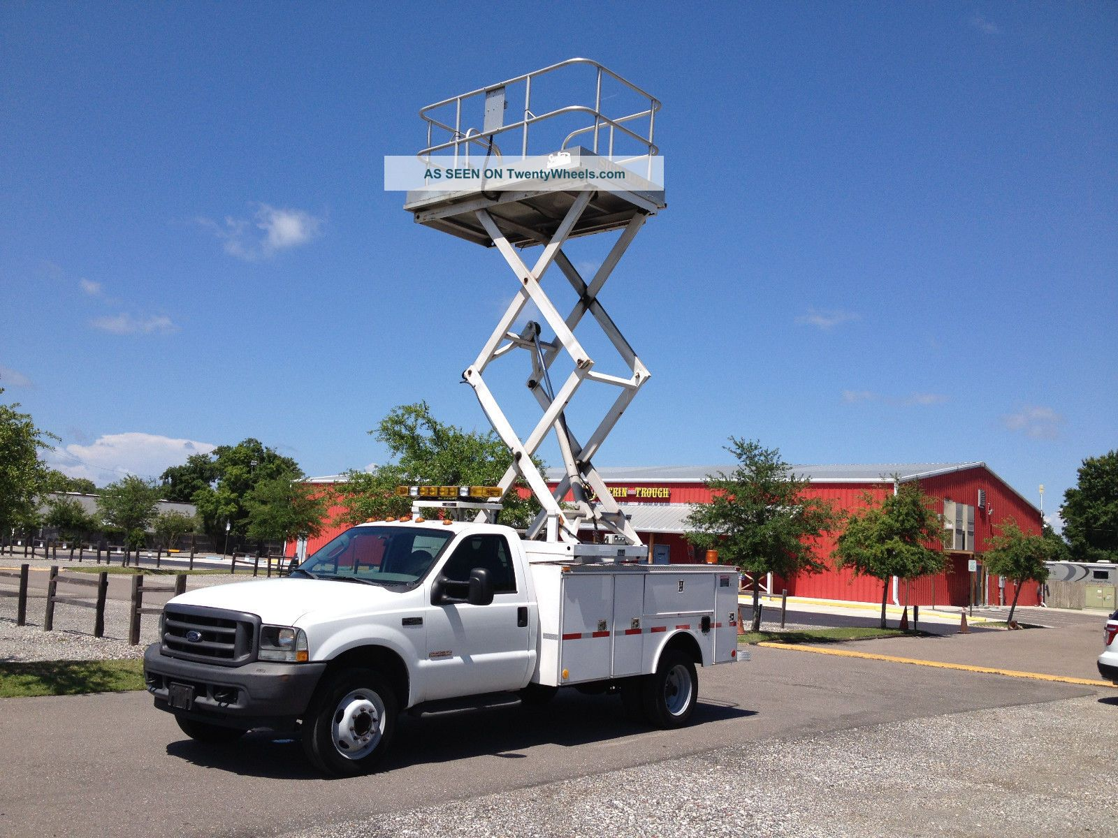 23 ' Working Height Platform Lift W/electric Pump Will Fit In Utility Bed Truck Scissor & Boom Lifts photo