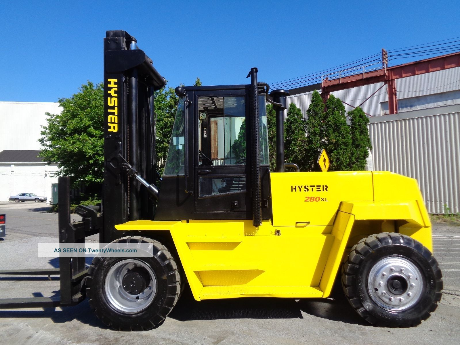 2001 Hyster H280xl 28,  000 Lbs Forklift - Diesel - Side Shift - Cab - Tires Forklifts photo