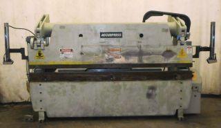 Accurpress,  Hydraulic Press Brake,  Part No.  76010,  60 Tons,  10 ' Bed photo