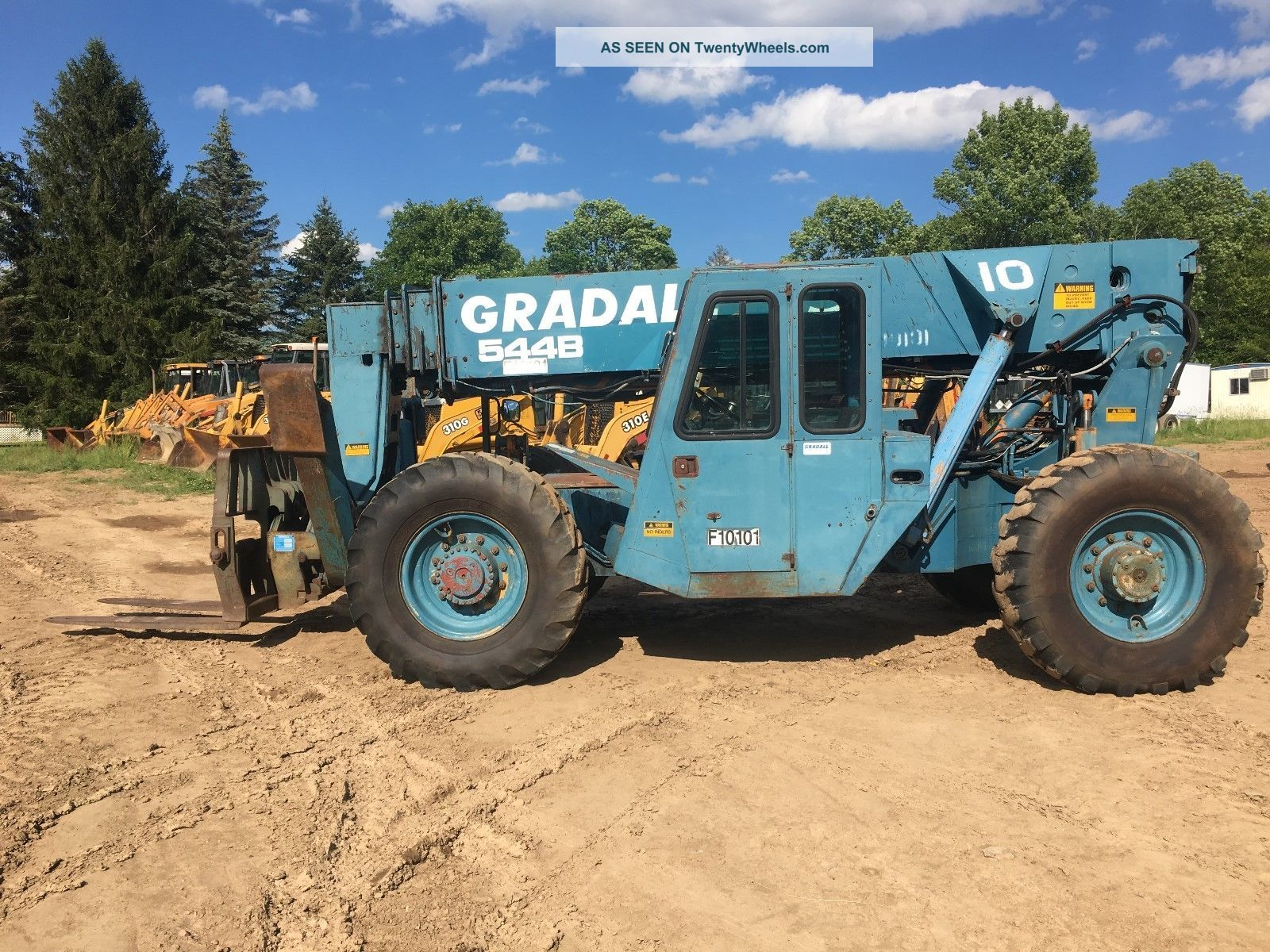 1994 Gradall 544b 4x4 Telescoping Rough Terrain Forklift 10,  000lb.  W/outriggers Forklifts photo