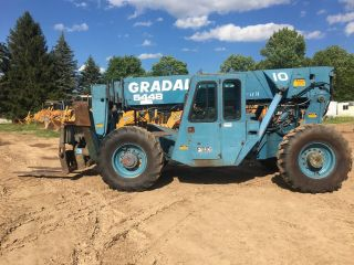 1994 Gradall 544b 4x4 Telescoping Rough Terrain Forklift 10,  000lb.  W/outriggers photo
