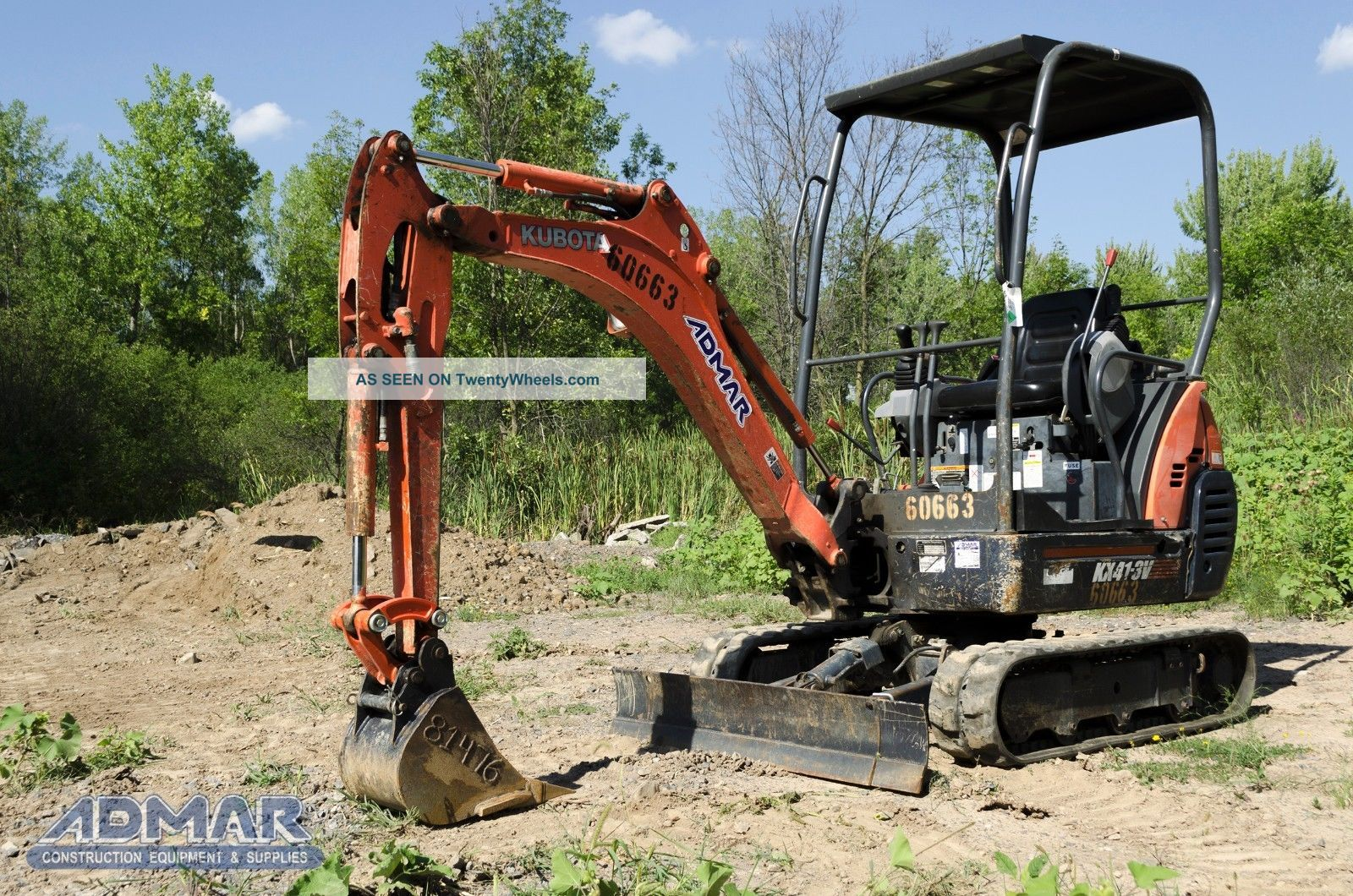 2011 Kubota Kx41vr1t4 Excavator,  With Open Cab,  And Standard Blade. Excavators photo