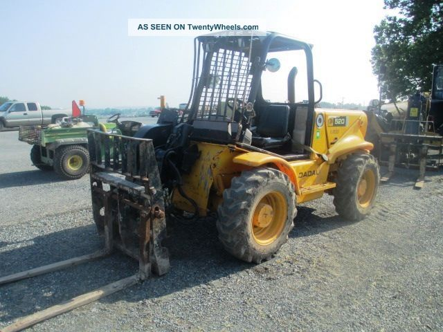 2006 Jcb 520 Forklift,  Rops,  4600 Lb Capacity,  4x4,  Perkins Diesel,  2294 Hours Forklifts photo